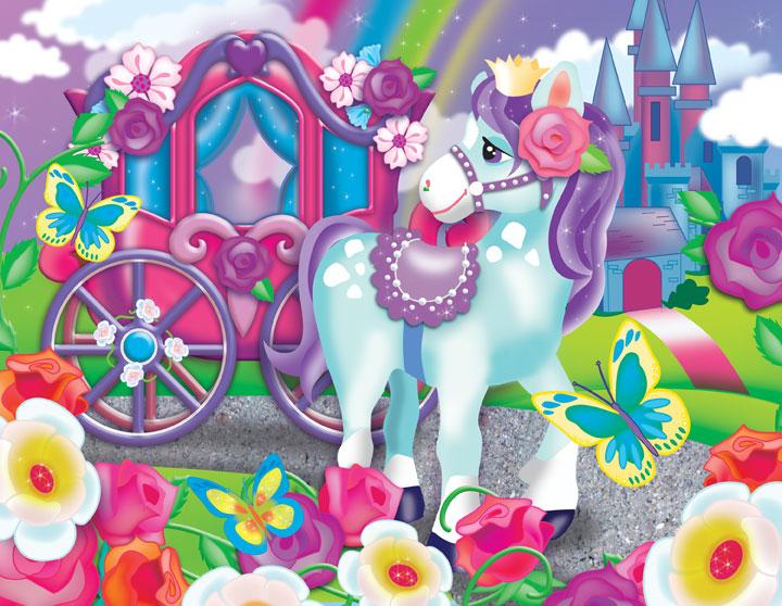 Glitter-n-Glitz - Royal Pony Cartoons Children's Puzzles