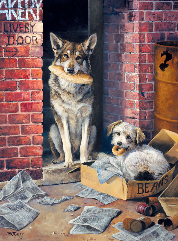 Alley Dogs Dogs Jigsaw Puzzle