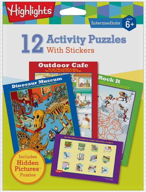 Highlights - 12 Activity Puzzles with Stickers Activity Books and Stickers