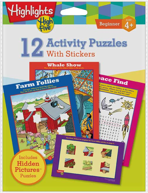 Highlights High Five - 12 Activity Puzzles with Stickers Activity Books and Stickers