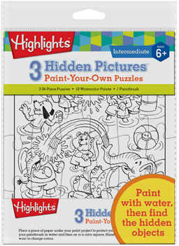 Highlights - Hidden Pictures Paint Your Own Puzzle Activity Books and Stickers