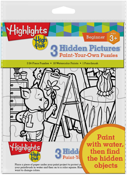 Highlights High Five - Hidden Pictures Paint Your Own Puzzle Activity Books and Stickers