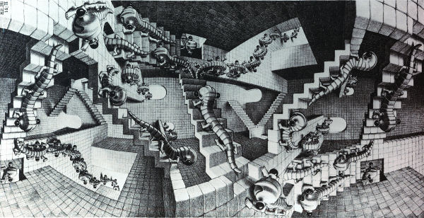 Escher: House of Stairs Jigsaw Puzzle