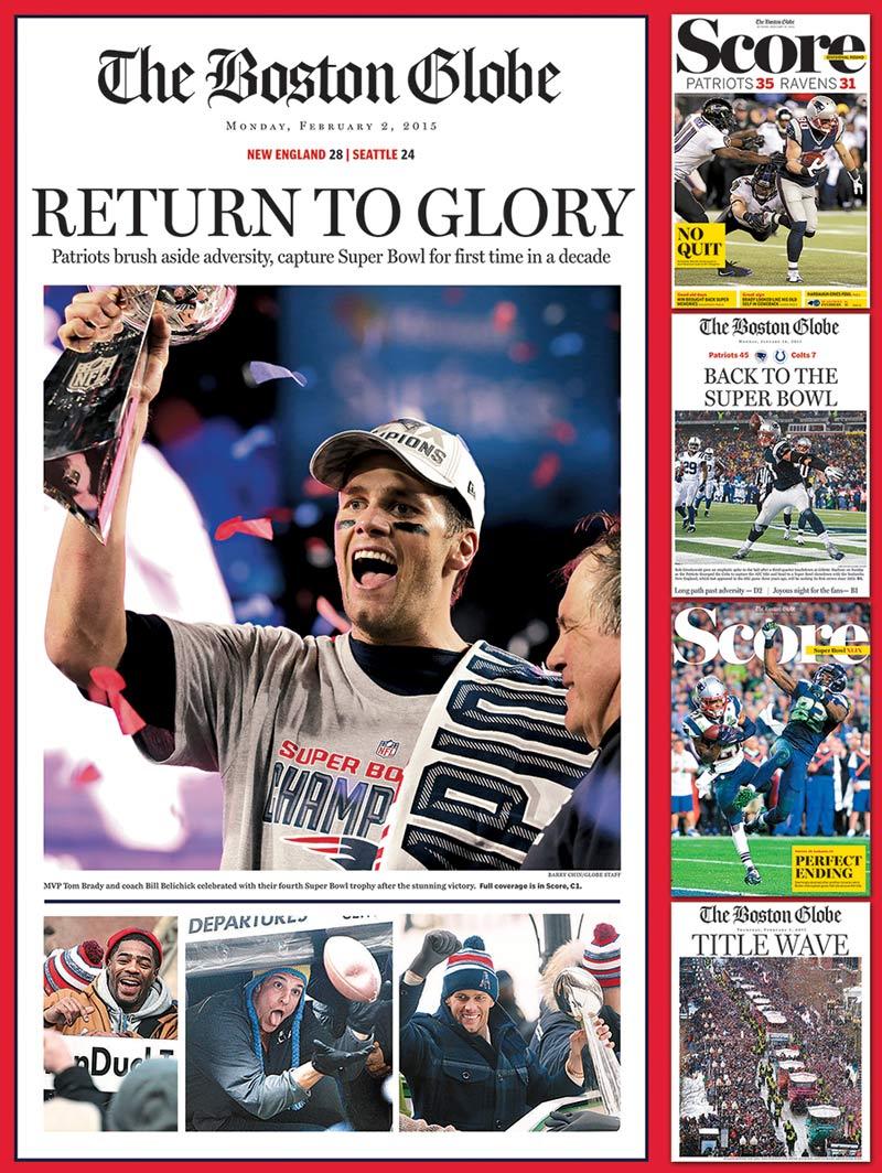 New England Patriots 2015 Super Bowl Champions Jigsaw