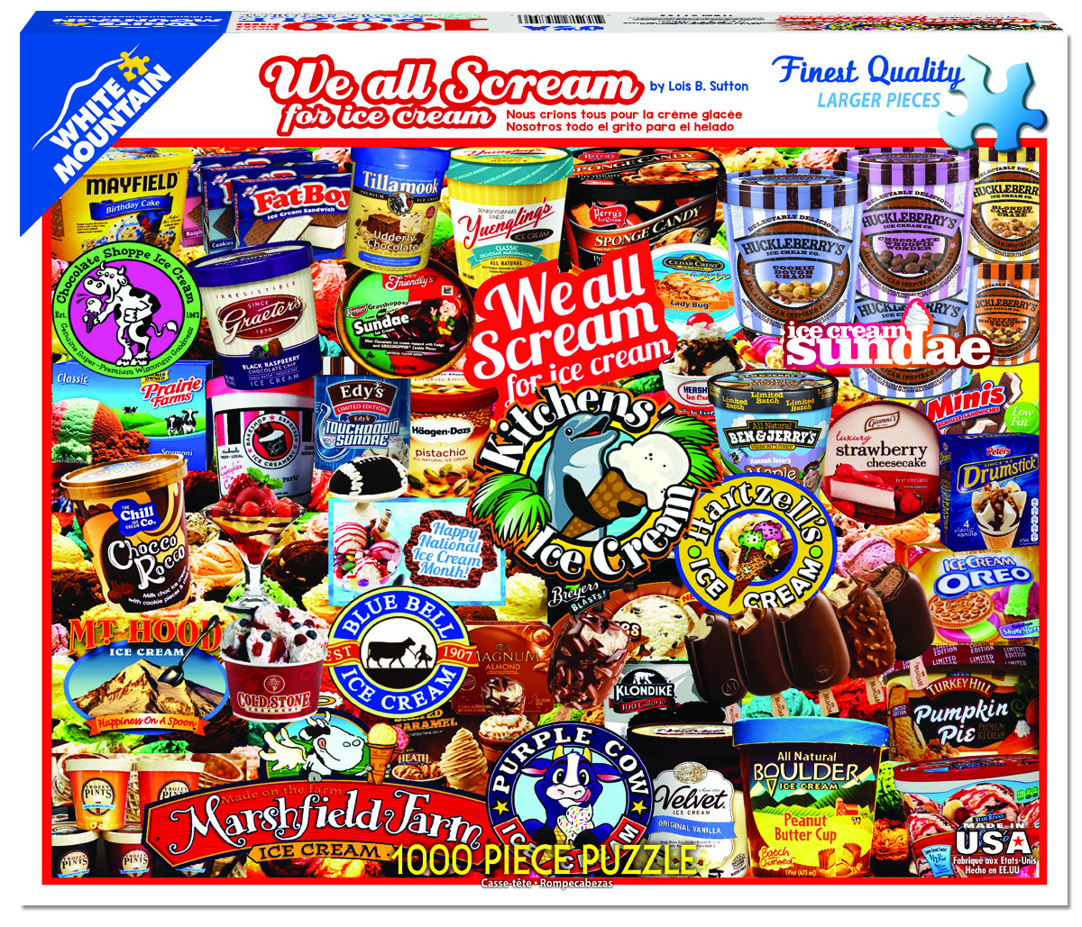We All Scream for Ice Cream Collage Jigsaw Puzzle
