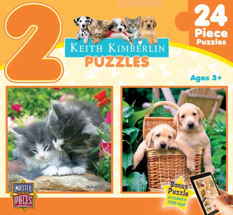 Keith Kimberlin 2-Pack - Orange Cats Jigsaw Puzzle