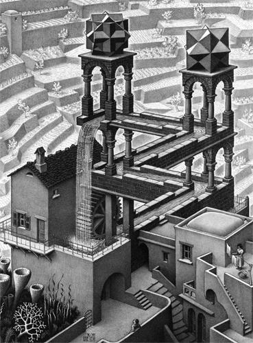 M.C. Escher - Waterfall Abstract Jigsaw Puzzle