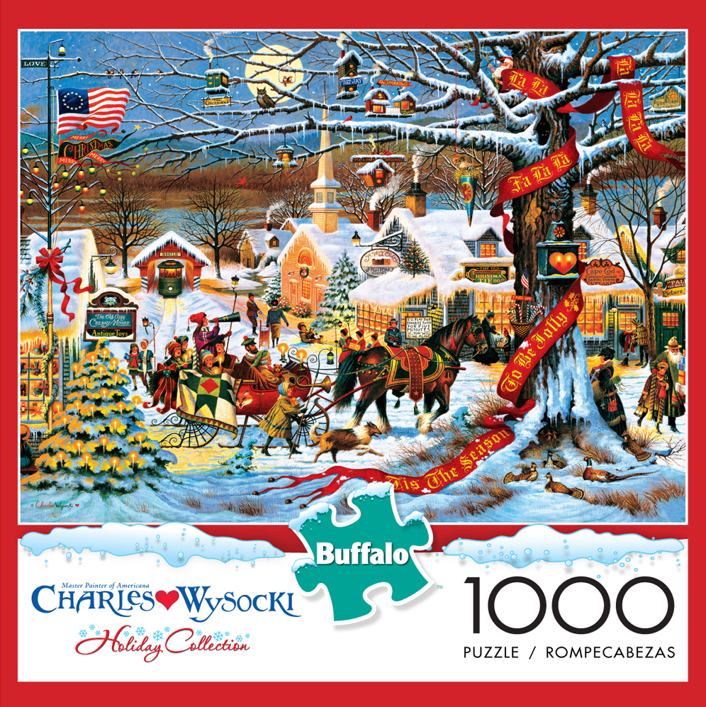 Small Town Christmas (Holiday Collection) Americana Jigsaw Puzzle