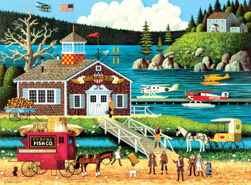 Birds Of A Feather Americana & Folk Art Jigsaw Puzzle