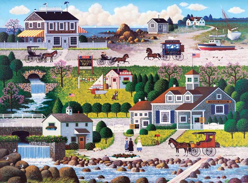 Cricket Hawk Harbor Americana & Folk Art Jigsaw Puzzle