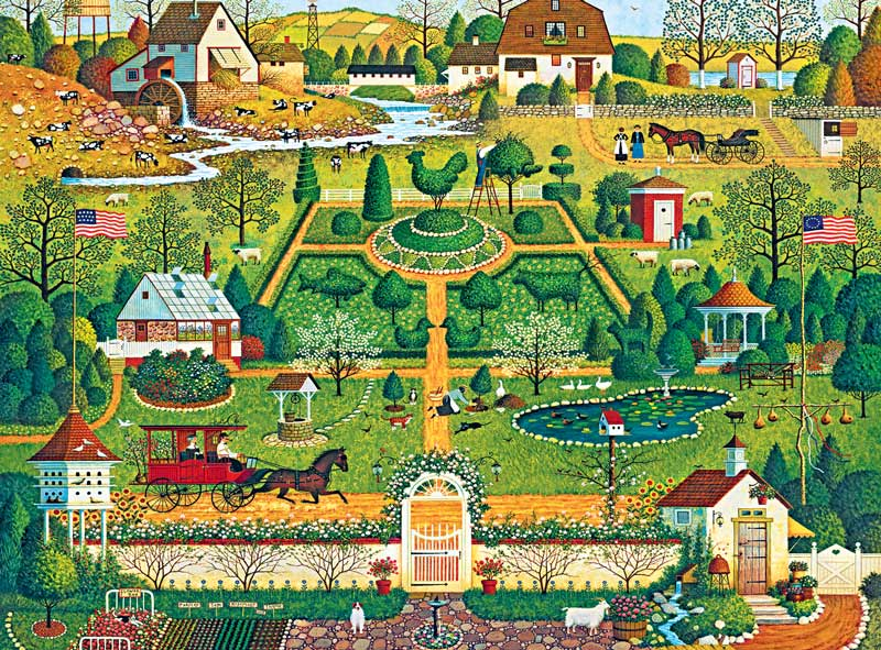 Uncle Jack's Topiary Tendencies Farm Animals Jigsaw Puzzle