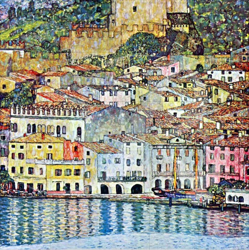 Malcena at the Gardasee Contemporary & Modern Art Wooden Jigsaw Puzzle
