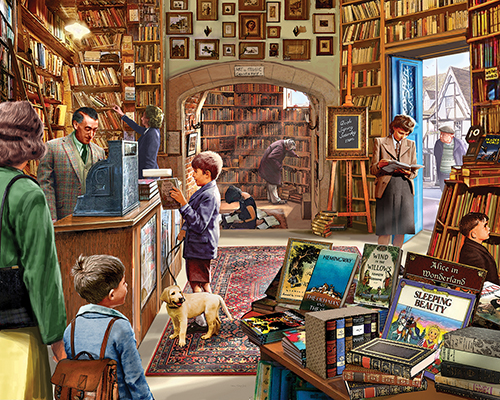 Cozy Book Shop Movies / Books / TV Jigsaw Puzzle