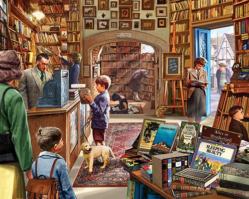 Cozy Book Shop Jigsaw Puzzle Puzzlewarehouse Com