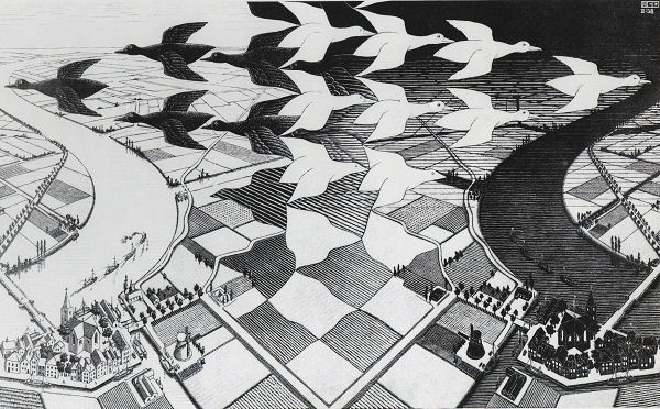 Escher: Day and Night Jigsaw Puzzle