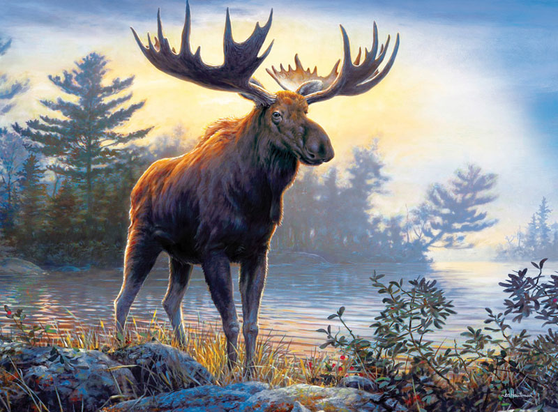 Northwoods Moose Father's Day Jigsaw Puzzle