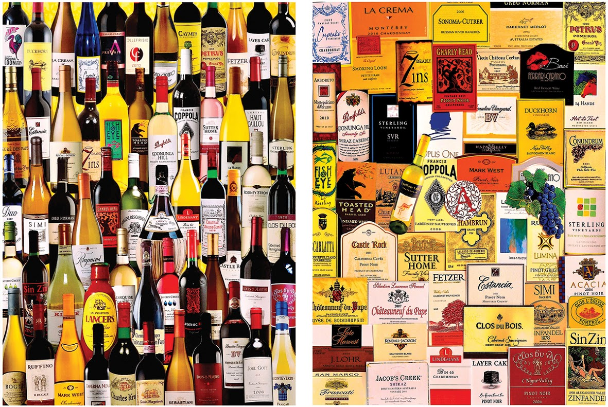 For the Love of Wine 2-in-1 Food and Drink Jigsaw Puzzle