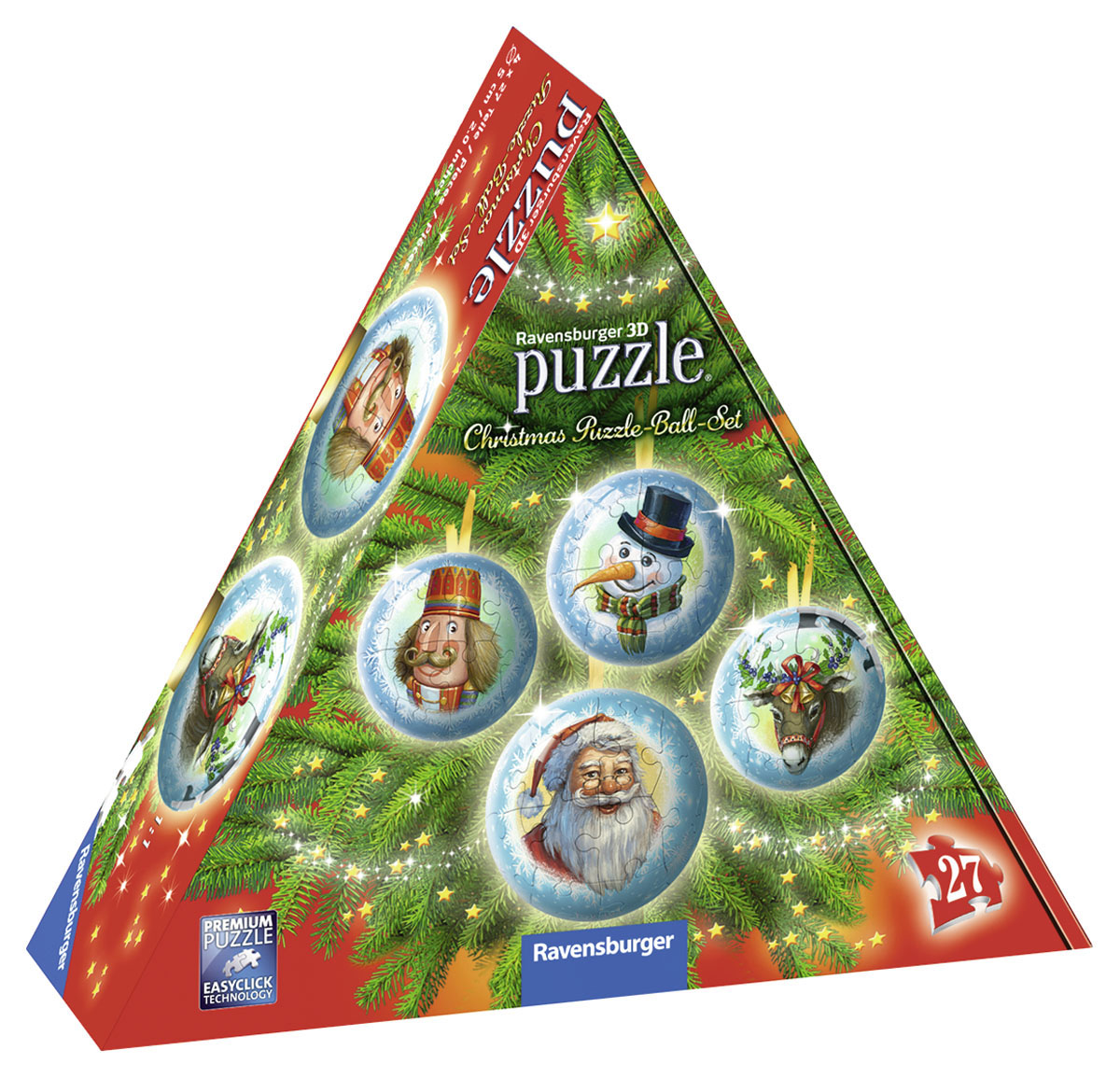 3D Christmas Puzzle-Ball Set Winter Jigsaw Puzzle