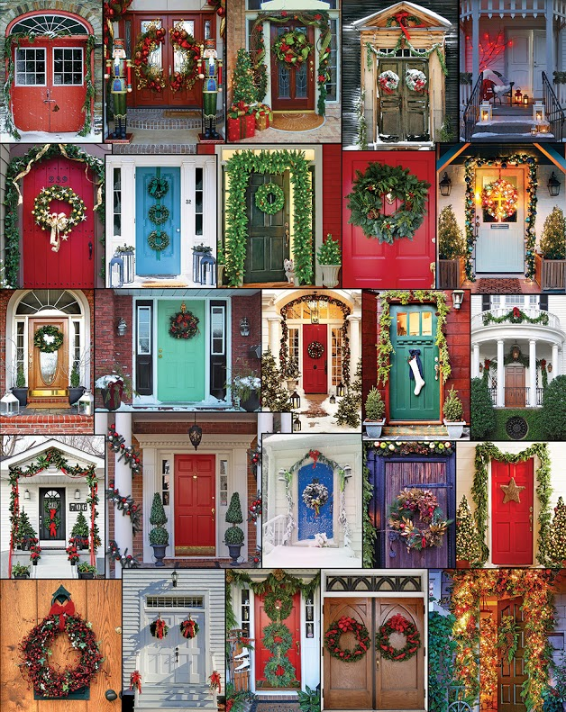 Holiday Doors Pattern / Assortment Jigsaw Puzzle