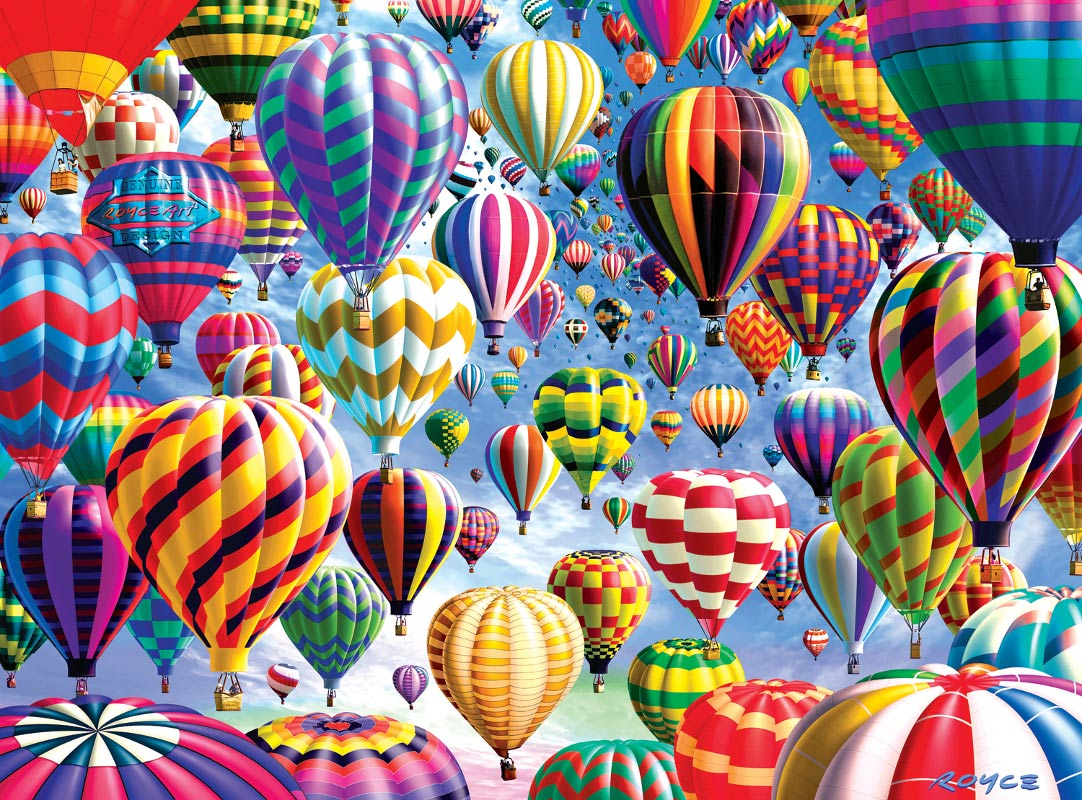 Sky Roads Balloons Jigsaw Puzzle