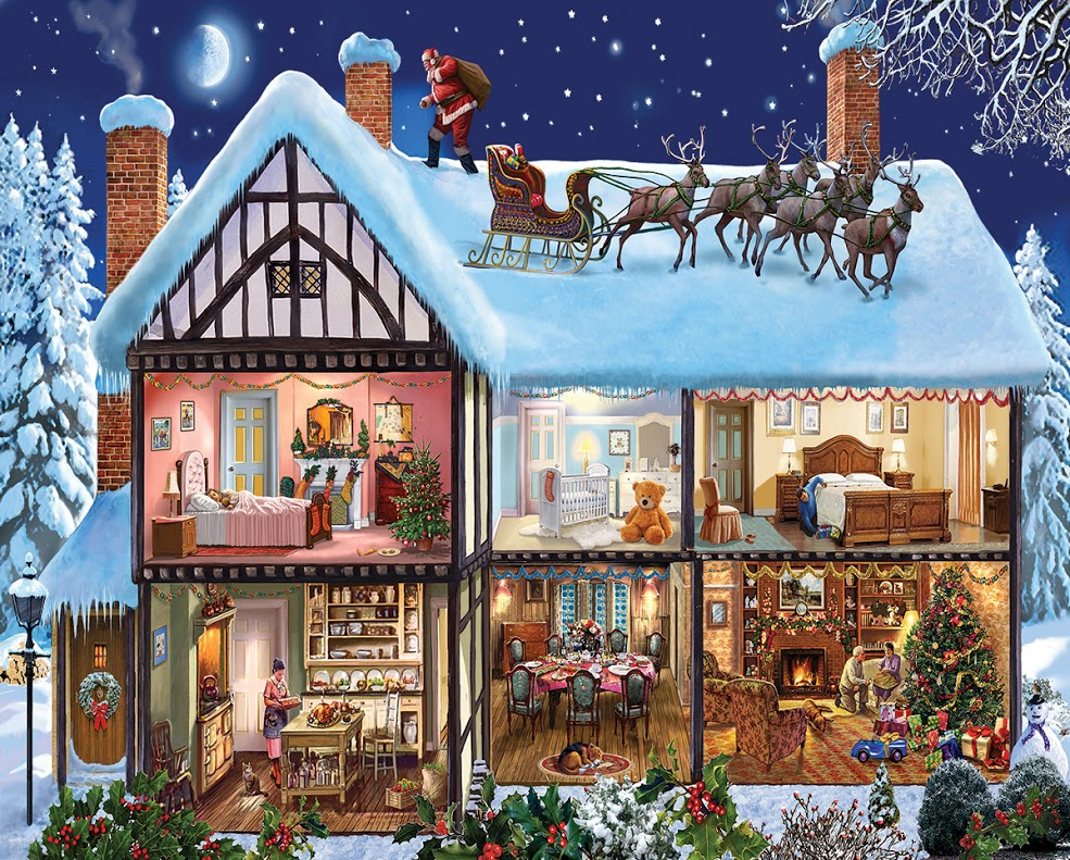 Christmas House - Scratch and Dent Santa Jigsaw Puzzle