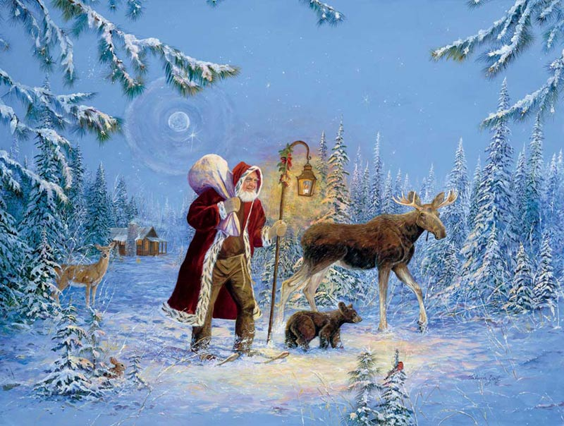 Forest Companions Christmas Jigsaw Puzzle