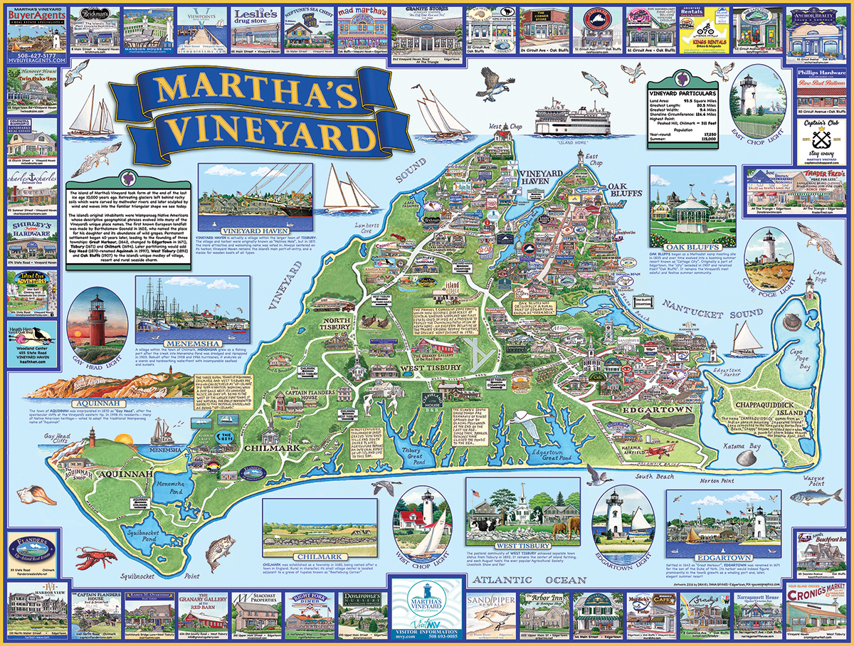 Martha's Vineyard, MA Maps / Geography Jigsaw Puzzle