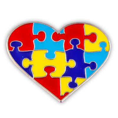 Autism Puzzle Pin Heart