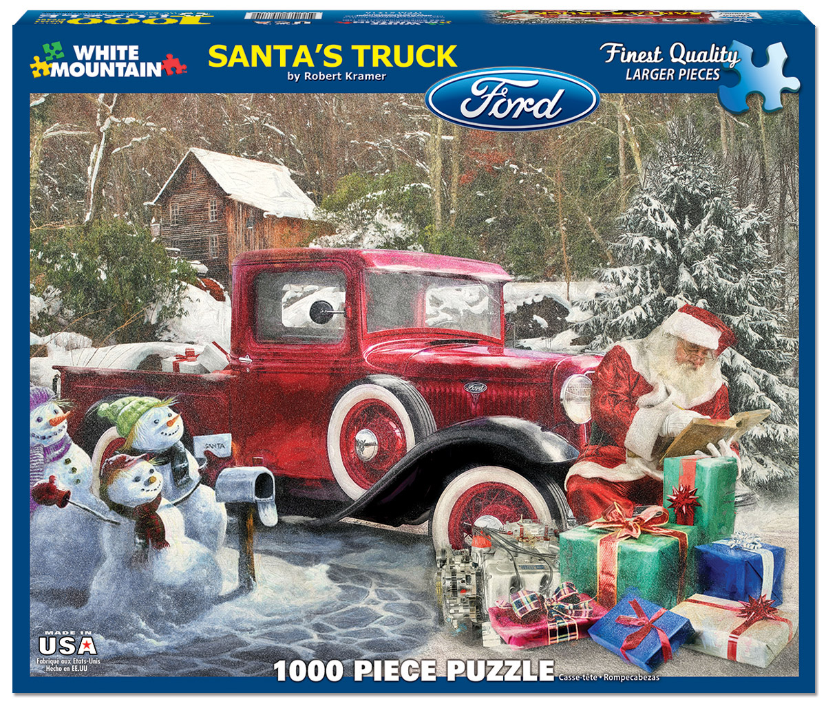 Santa's Truck Winter Jigsaw Puzzle
