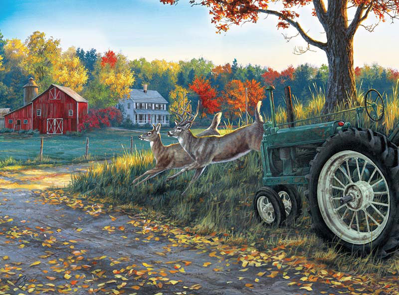 Morning Run Fall Jigsaw Puzzle