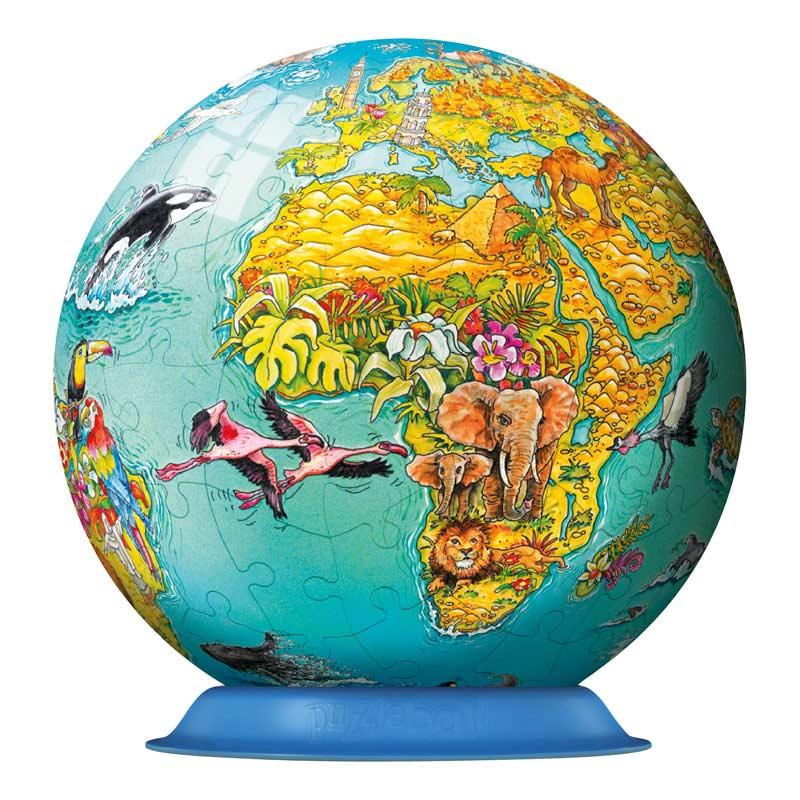 Puzzleball - Children's World Map Maps Children's Puzzles