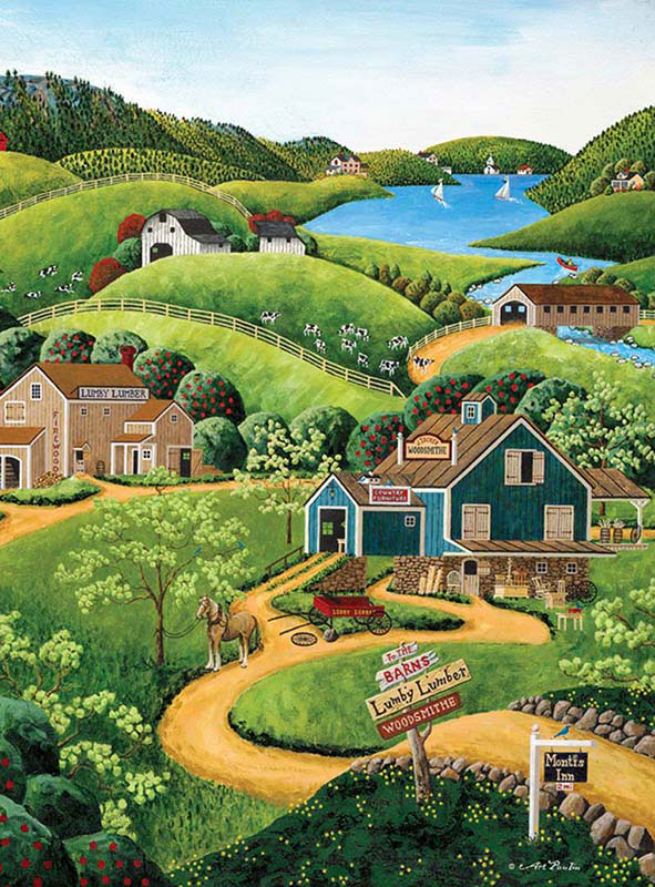 To the Barns Jigsaw Puzzle