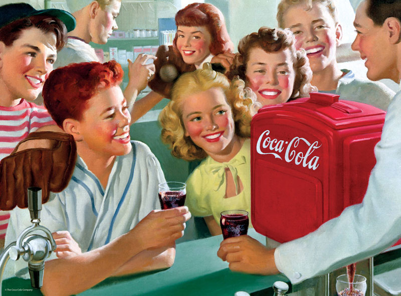 Soda Fountain Coca Cola Jigsaw Puzzle