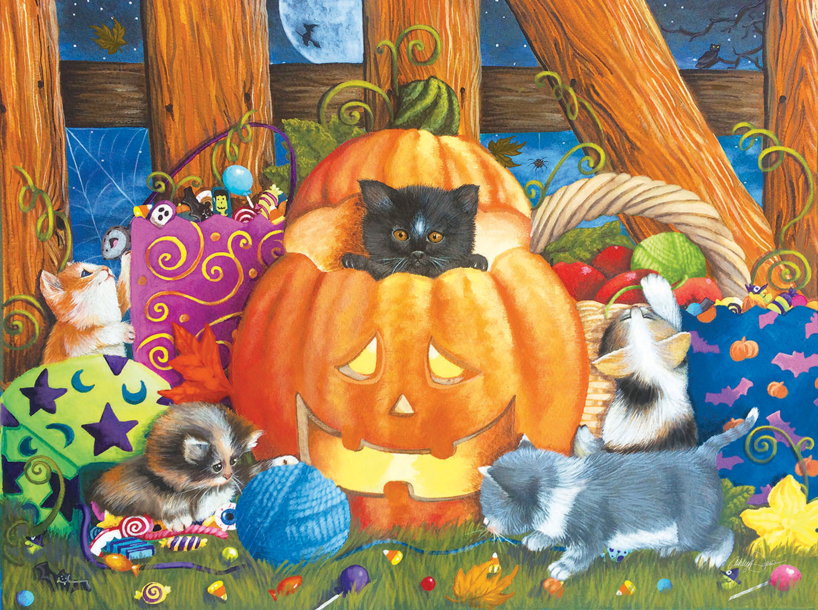 Halloween Surprise Cats Jigsaw Puzzle