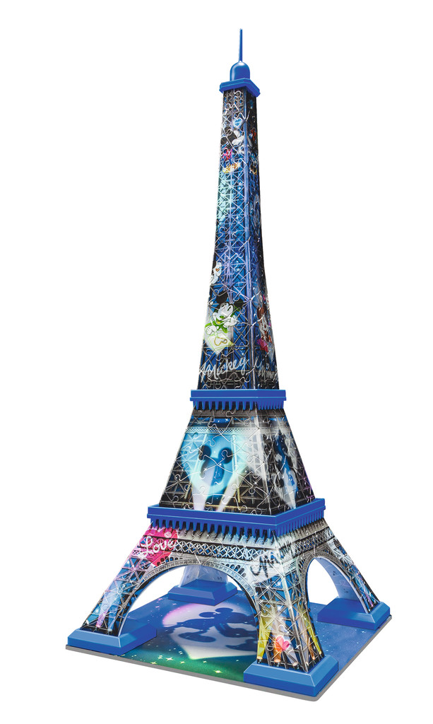 Mickey Amp Minnie Eiffel Tower 3d Jigsaw Puzzle