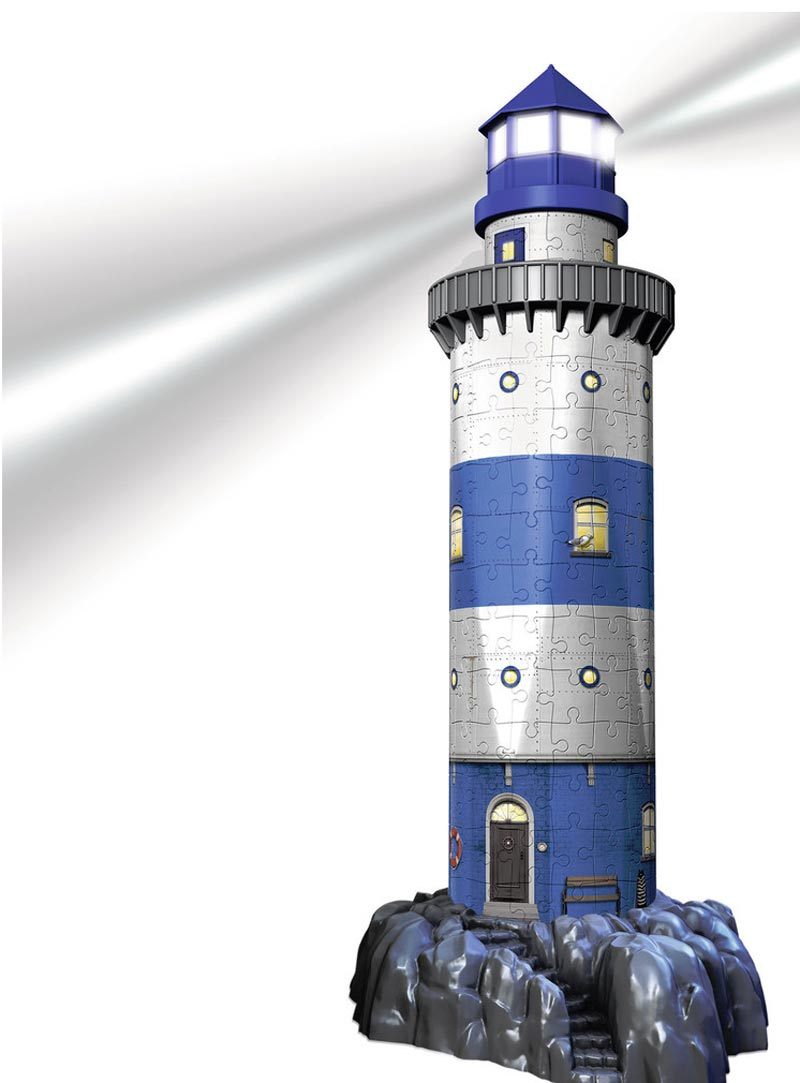 Lighthouse - Night Edition Lighthouses Jigsaw Puzzle