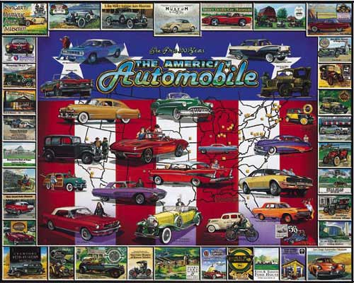 American Auto History Cars Jigsaw Puzzle