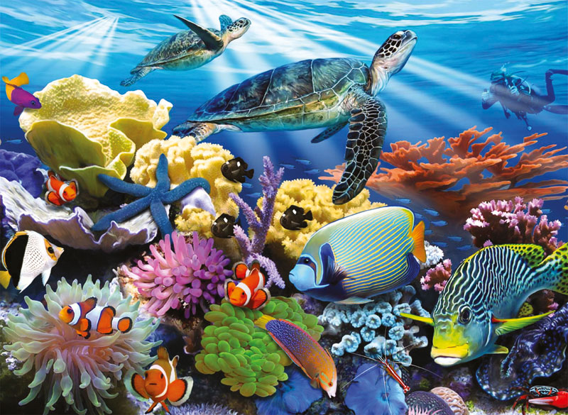 Ocean Turtles Under The Sea Jigsaw Puzzle
