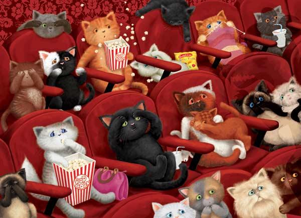 Kitty Cinema Cats Jigsaw Puzzle