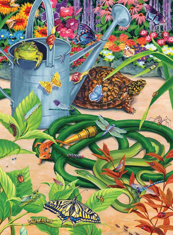 Garden Creepers Reptiles and Amphibians Jigsaw Puzzle