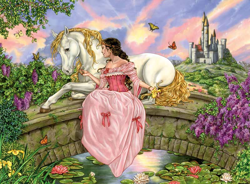 Princess over the Pond Castles Jigsaw Puzzle