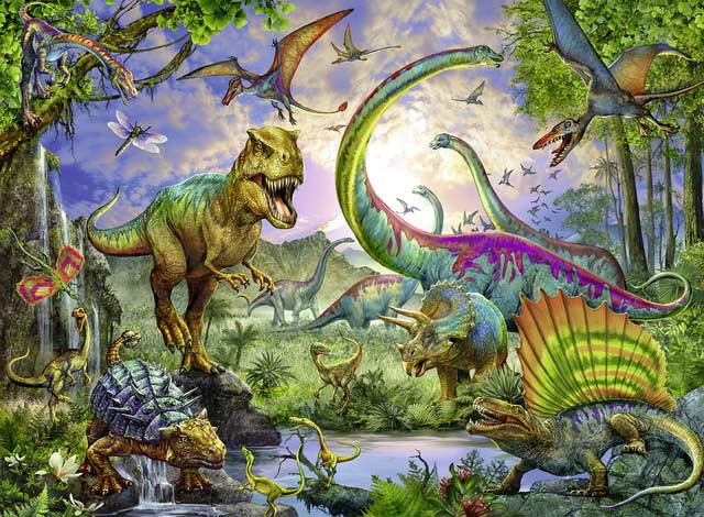 Realm of the Giants Dinosaurs Jigsaw Puzzle
