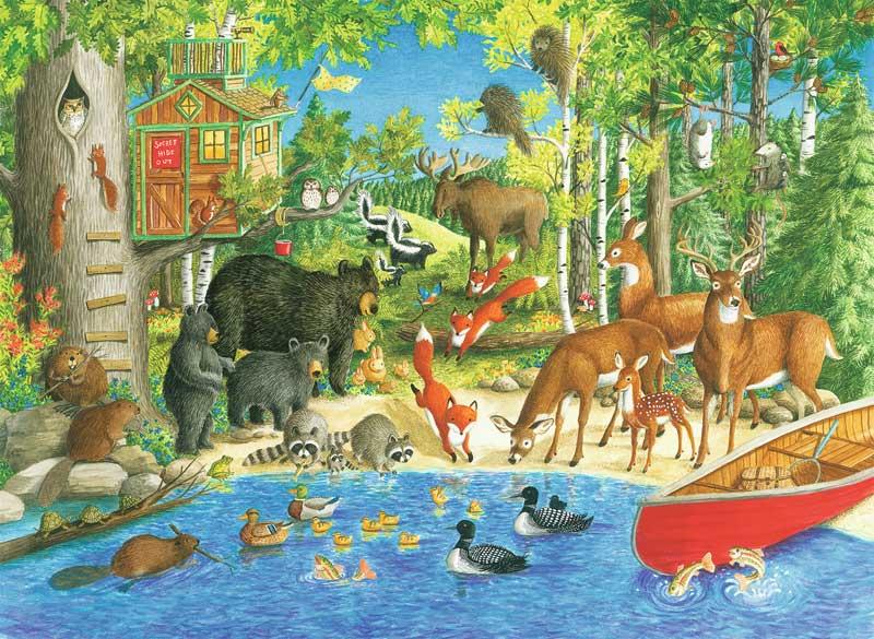 Woodland Friends Animals Jigsaw Puzzle