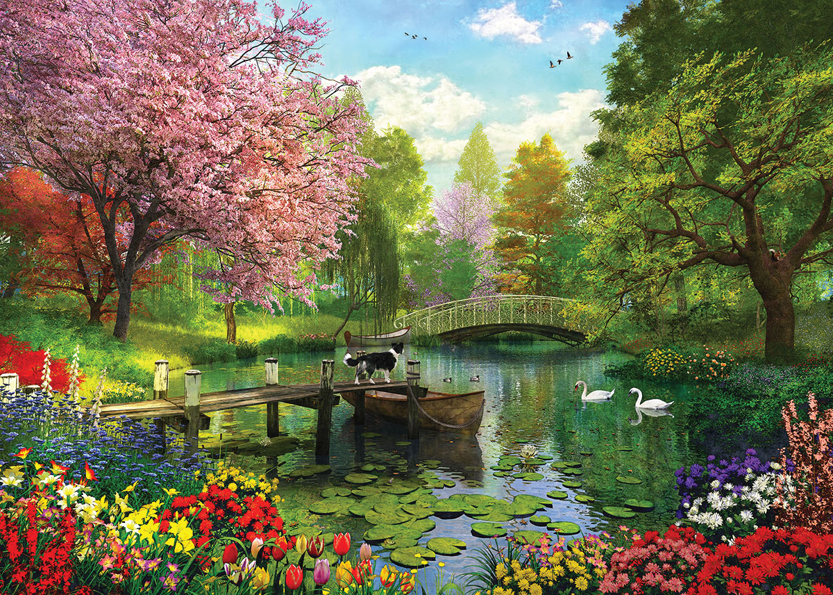 Forest Lake Summer Jigsaw Puzzle