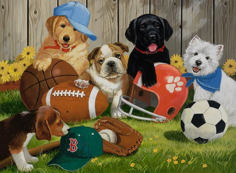 Let's Play Ball! Dogs Jigsaw Puzzle