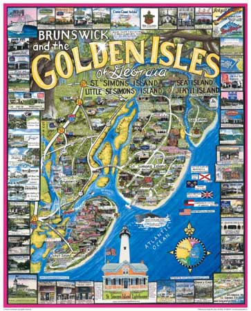 Golden Isles of Georgia - Scratch and Dent Maps / Geography Jigsaw Puzzle