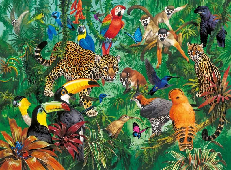Jungle Jungle Animals Jigsaw Puzzle