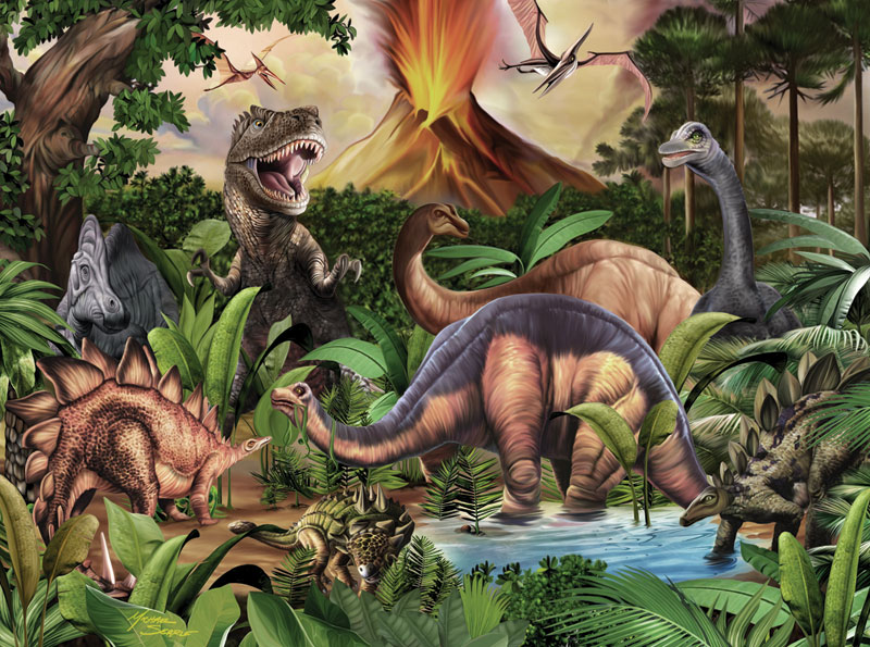 Ancient Friends Dinosaurs Jigsaw Puzzle