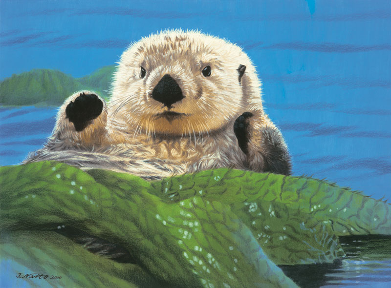 Friendly Otter Other Animals Jigsaw Puzzle