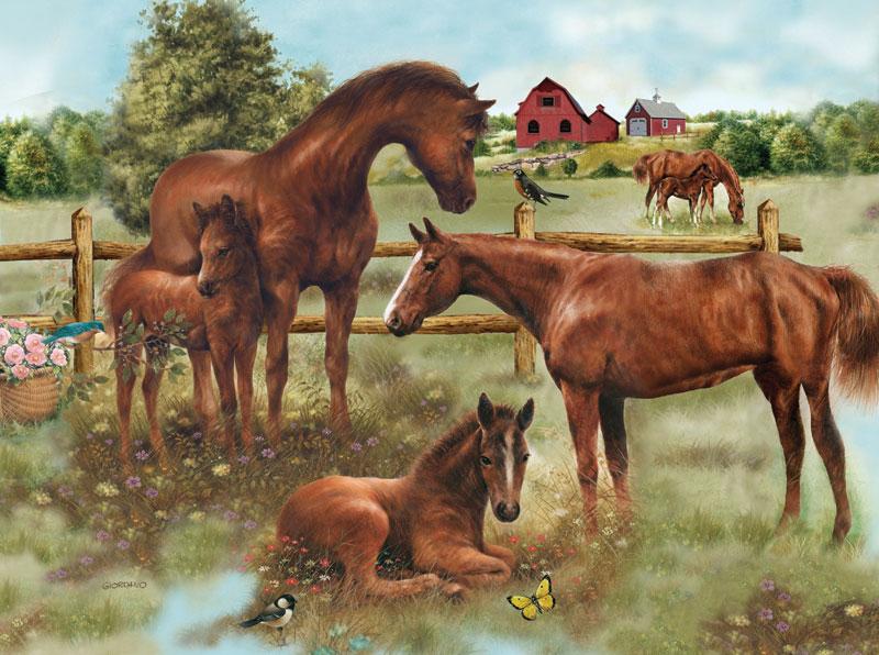 Horse Family Horses Children's Puzzles